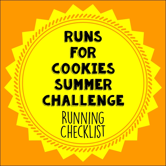 Cookies Summer Challenge Running Checklist
