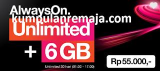 Tutorial Lengkap Cara Membeli Paket Internet Unlimited + AON 6GB kartu tri