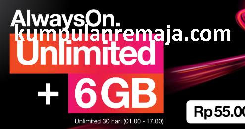 Cara Membeli Paket Internet Unlimited Aon 6gb Kartu Tri Kumpulan Remaja