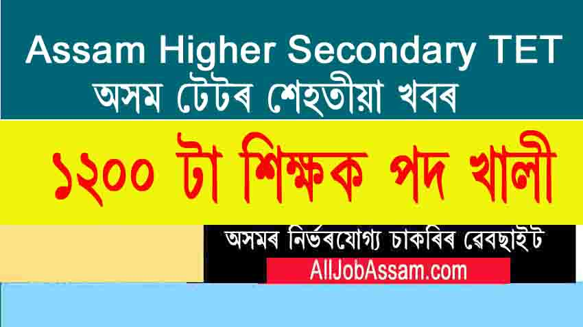 Assam Education Department Vacancy 2020