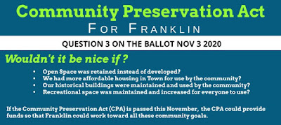 Three Voices of Franklin: Yes for the Community Preservation Act