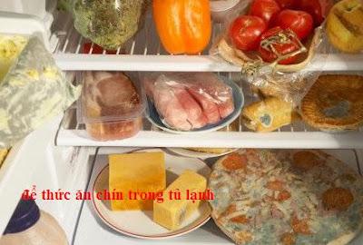 bảo quản thức ăn chín trong tủ lạnh