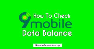 How To Check 9mobile Data Balance