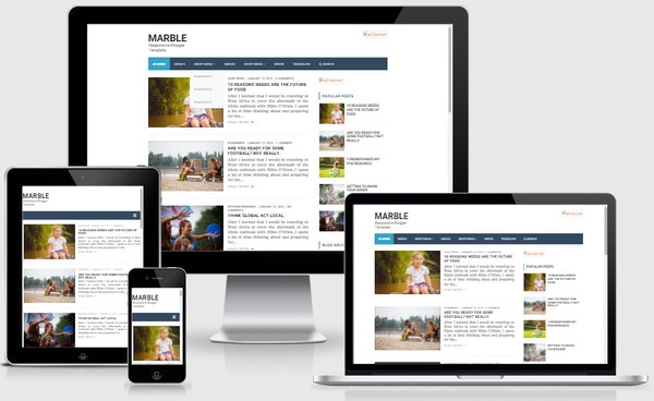 Marble Responsive Blogger Templates
