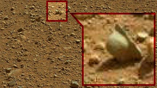 Imagens misteriosas de Marte - Capacete antigo em Marte
