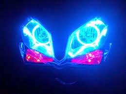 cara modifikasi motor sederhana dengan memasang lampu angel eye