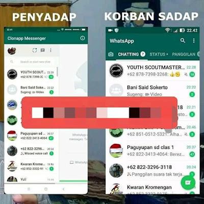 Kelemahan Aplikasi ClonApp Messenger