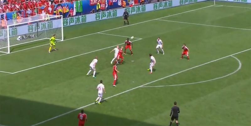 Shaqiri scores wonder goal for Switzerland against Poland at Euro 2016 France