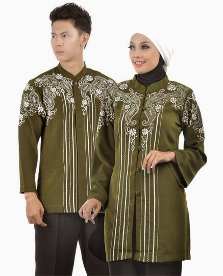Model Baju Couple Modern Hijau