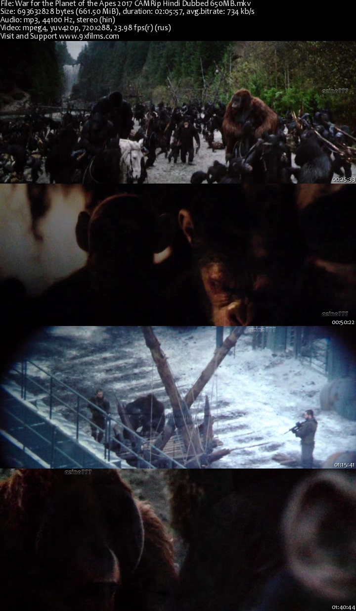 War for the Planet of the Apes Tamil Dubbed TamilRockers ...
