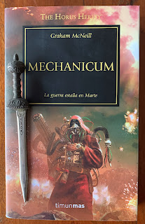 Portada del libro Mechanicum, de Grahama McNeill