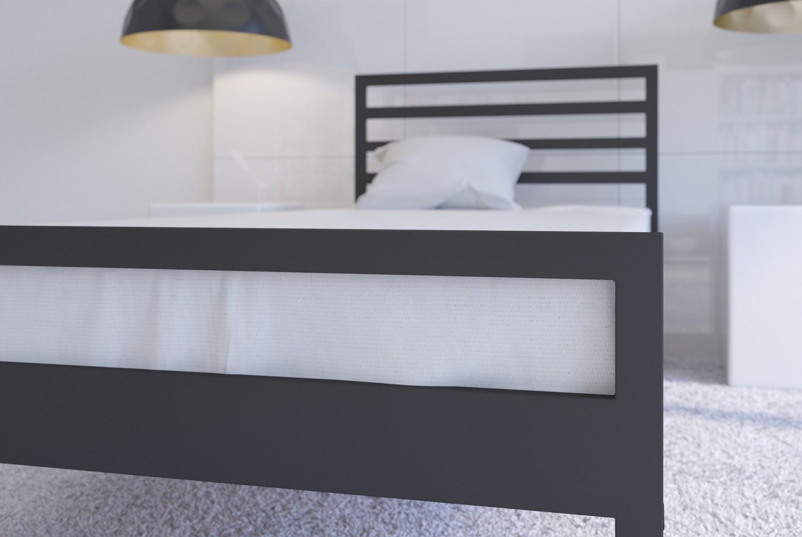 Łóżko metalowe wzór 33 (80-100 cm)
