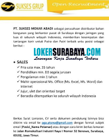 Open Recruitment at PT. Sukses Mekar Abadi Surabaya Juli 2020