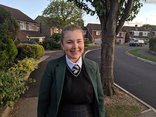 Top Ender on her first day of Year 11