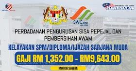 Pengambilan terkini Gred 19 - 41 ~ SPM/Diploma/Ijazah Sarjana Layak Mohon