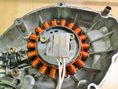 Yamaha YBR 125 Generator , Alternator Stator  testing