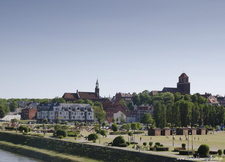 Panorama Tczewa. Architektura.
