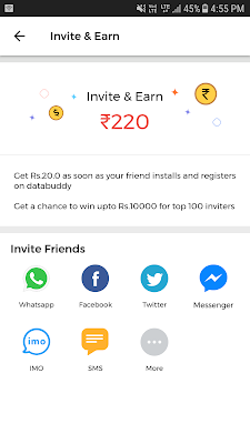How To Refer & Earn Rs.220 Money Via DataBuddy App