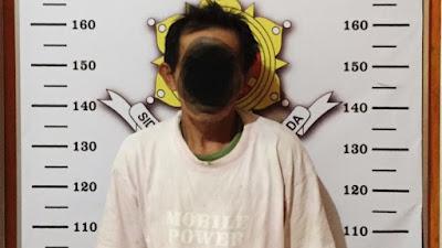 Cabuli Anak Tirinya, (PS) Warga Sanggalangi' Diamankan Personil Polres Torut