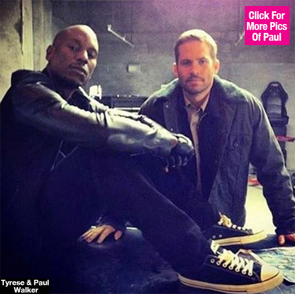 Tyrese Shares Touching Pic On 3rd Anniversary Of 'Furious 7' Co-Star Paul Walker's Death