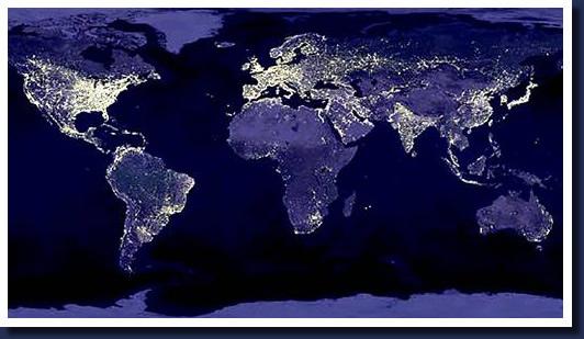 Imagen Satelital De Un Planeta Iluminado