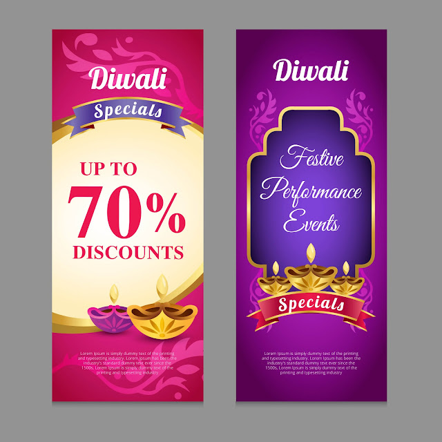 Beautiful Diwali Greeting cards for sales and marketing