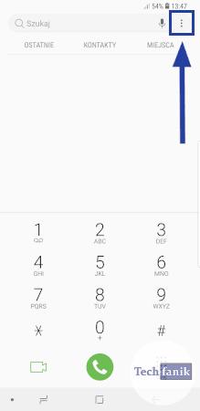 Aplikacja telefon w Samsungu