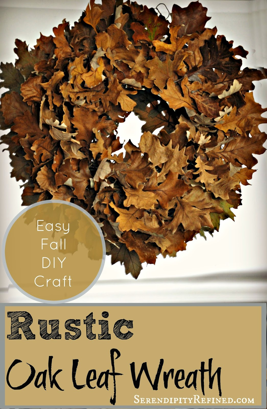 Easy Fall Kids Crafts That Anyone Can Make: Serendipity Refined Blog: Easy Fall DIY Craft: Rustic Oak