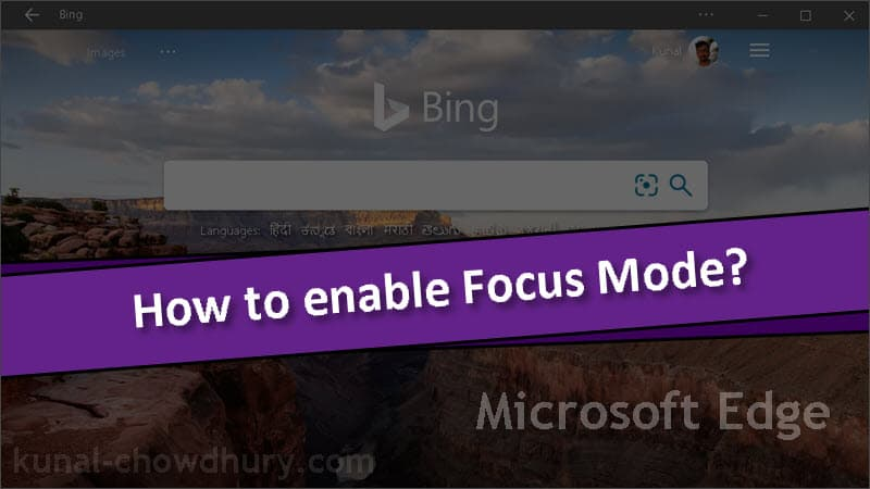 How to enable Focus Mode in Microsoft Edge on Windows 10?