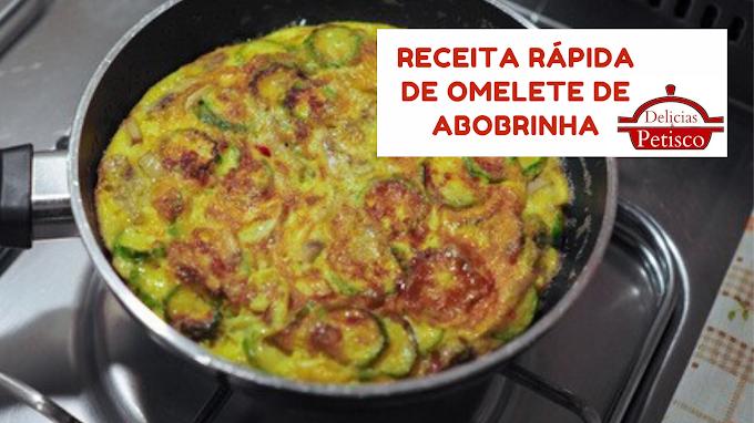 Receita rápida de omelete de abobrinha