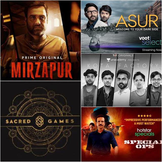 mirzapur, sacred games, asura, rangbaaz, special ops