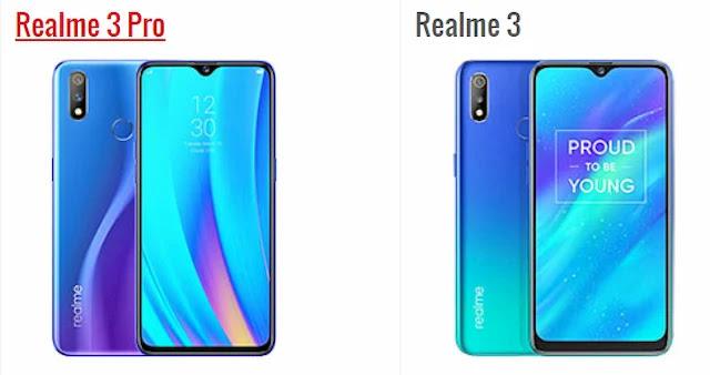 الفرق بين Realme 3 و Realme 3 Pro