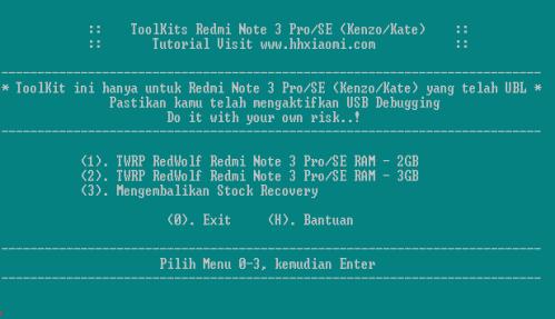 Cara pasang TWRP RedWolf Redmi NOTE 3 Pro/SE