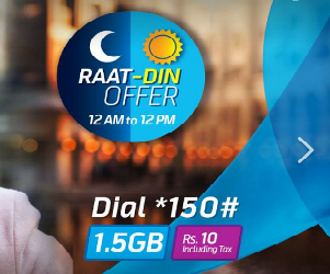 Telenor 4G Raat Din Internet Offer