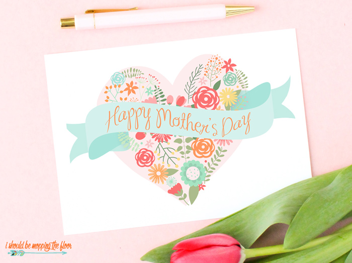 Mother's Day Heart Design Card