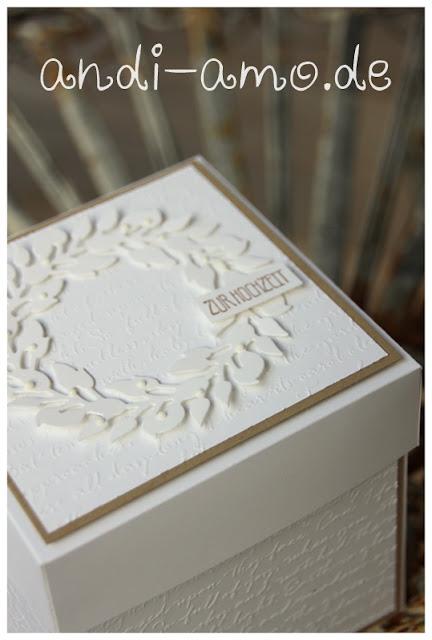 Kranz in weiß zur Hochzeit Stampin Up