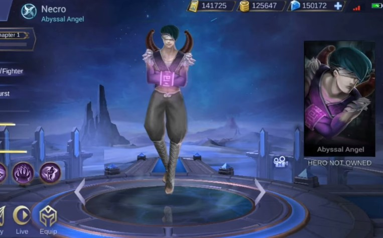 Necro Hero Mobile Legends Dengan Tangan Terikat