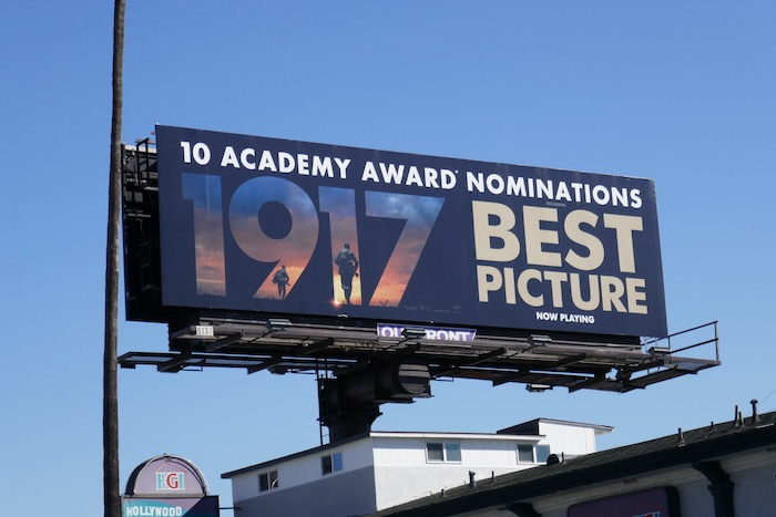 1917 Best Picture Oscar billboard