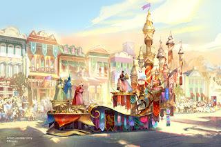 Sleeping Beauty Float Magic Happens Disneyland Parade Concept Art