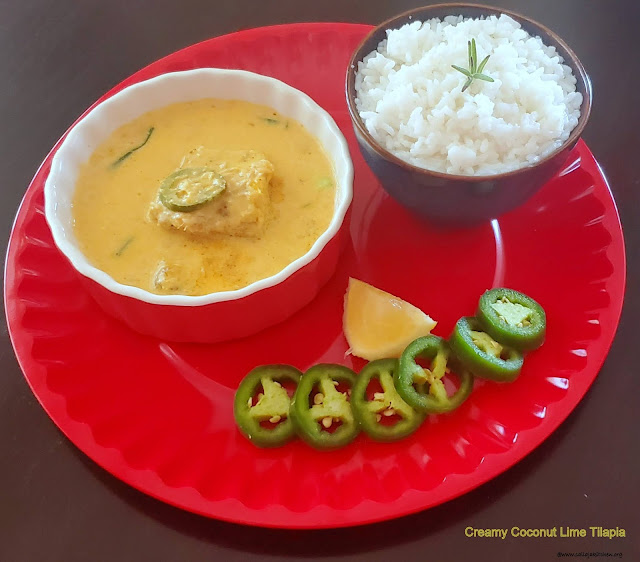 images of Creamy Coconut Lime Tilapia Recipe / Fish Fillets In Coconut Lime Sauce