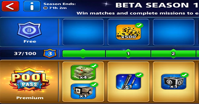 Pool Pass 8 ball pool season 1