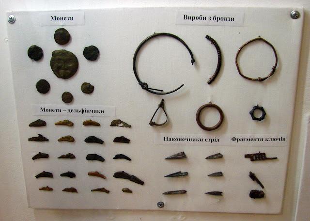 Находки, демонстрирующиеся во втором музее