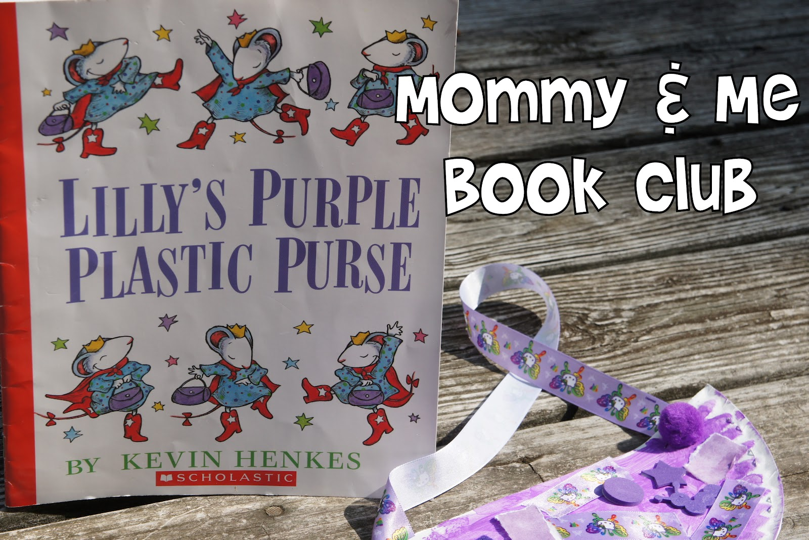 Mommy And Me Book Club Lilly S Purple Plastic Purse