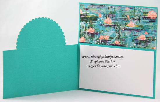 #thecraftythinker #stampinup #cardmaking #saleabration #funfold #dutchdoorfold #lovelylilypad , Sale-A-Bration, Lovely Lily Pad, Fun Fold, Dutch Door fold, Stampin' Up Demonstrator, Stephanie Fischer, Sydney NSW