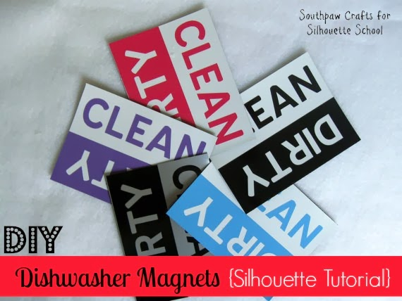 Dishwasher magnets, DIY, do it yourself, Silhouette tutorial
