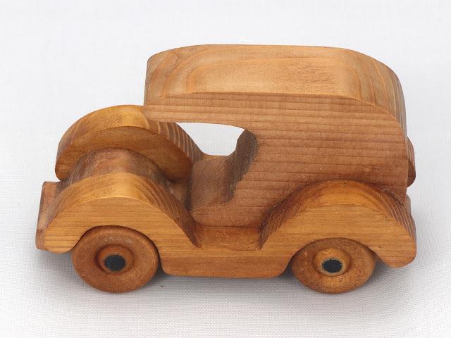 Handmade Wood Toy Car/Panel Truck Christmas Tree Ornament