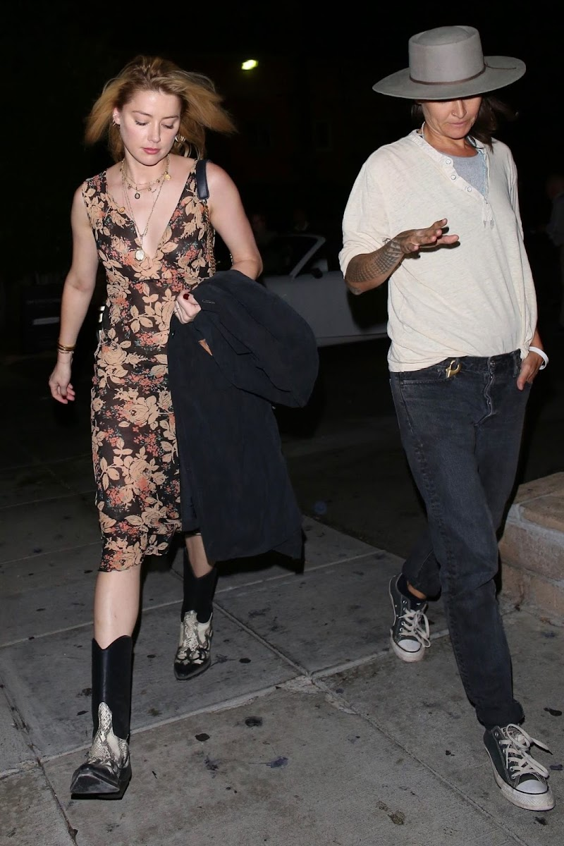 Amber Heard  Out for Dinner in Beverly Hills 4 Sep-2019