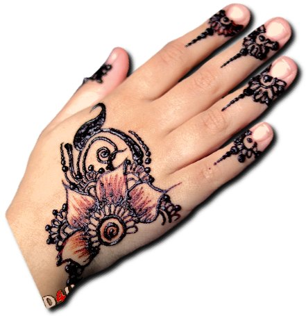 Bold Flowers Mehndi Design