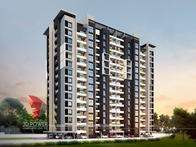 highrise apartment rendering company-3d power