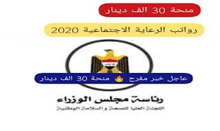 اسماء المشمولين في القطع الاراضي الوجبة الثانية 2020